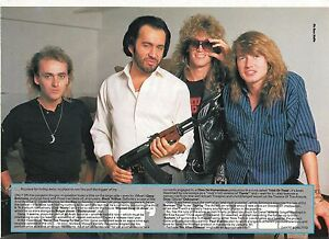 GENE-SIMMONS-KISS-amp-Black-n-039-Blue-magazine-PHOTO-Poster-clipping-11x8-inches