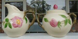 Franciscan Desert Rose Earthenware Gladding McBean Creamer & Sugar Bowl w/Lid