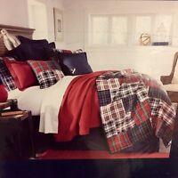 Daniel Cremieux Alistair King 3pc Quilt Set Red/ White/blue/green/ Tan Plaid