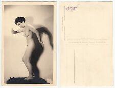 Geisha ? Nackte Frau b.Gymnastik im Asia style, girl  nude,Wolfson Foto c.1950