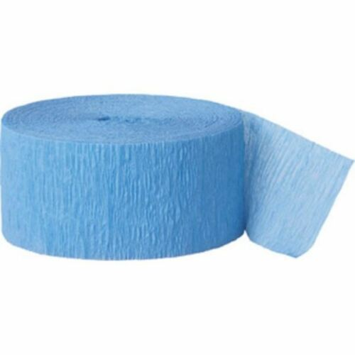 Crepe Streamer Paper Rolls 81ft 24 meters Party Decoration Bunting Baby Blue