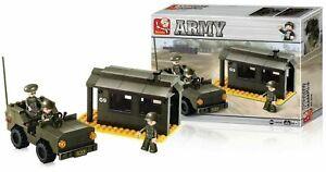 Poste-Militaire-et-Jeep-Sluban-B6100-Jeux-de-Construction-Brics-Compatibles-Lego