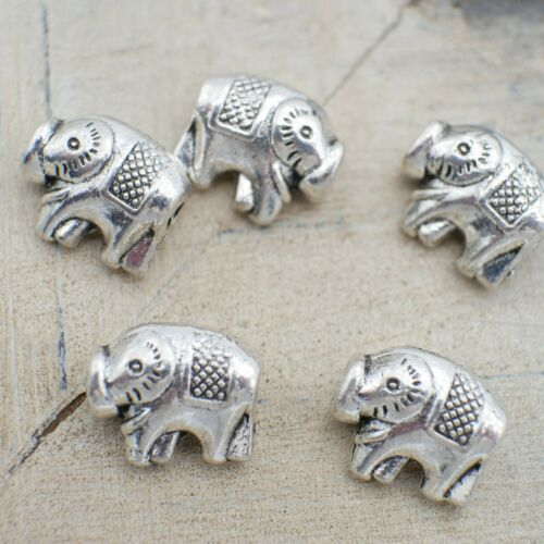 12x9mm silber Metallperlen xy20 NELLYS  Spacer Elefant ca