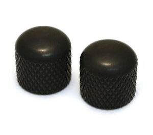 (2) Black Press-sur Dôme Boutons Pour Guitare/basse 6 Mm Split Shaft Mk-3300-003-afficher Le Titre D'origine