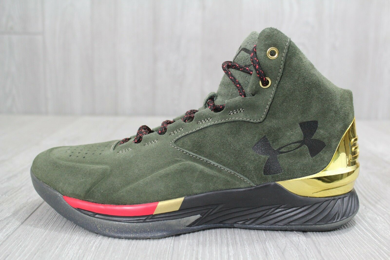 26 Under Armour Steph Curry SC 1 Lux Downtown Green/Gold 1296617 330 8.5 10 12
