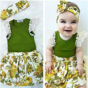 fotos nuevas nuevo estilo disfruta del envío gratis Detalles de Conjunto De Ropa Para Bebé Recién Nacido Ropa Para Niña  Mamelucos Y Falda Floral