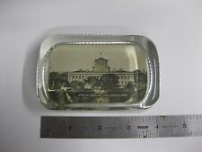 Rare Paperweight Glass Black & White Photo Columbus Ohio State Capitol Building