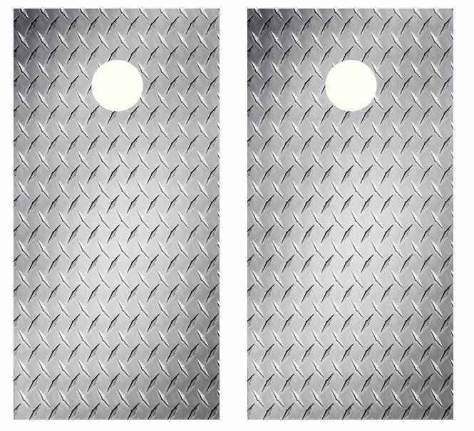 Diamond  Plate Cornhole Board Wraps FREE SQUEEGEE  online shopping