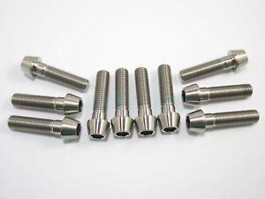 M10 x 45mm 1.5 Pitch Titanium Ti Bolt Taper Hex Allen Socket Head Screw GR5