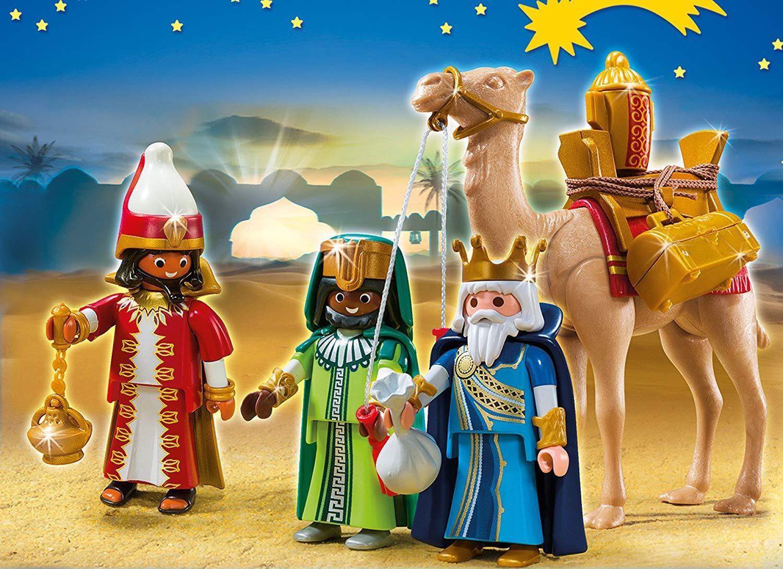 Playmobil Navidad - Playset Reyes Magos Juguete Set de 59 piezas