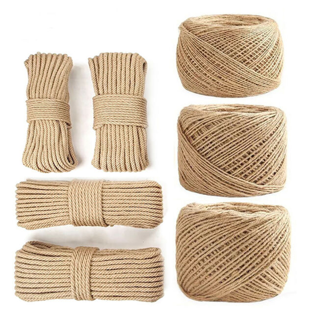 6MM TO 24MM Natural Jute Twisted Decking Garden Boating garden DLY braided ROPE