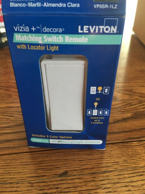 Leviton VPOSR-1LZ Lighted 120V Matching Switch Remote W// 3 Colors  NOS FREE SHIP