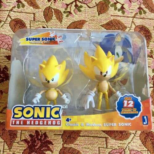 Jazwares SUPER SONIC HEDGEHOG Poseable Action Figures Toys 2 pack Brand NEW RARE