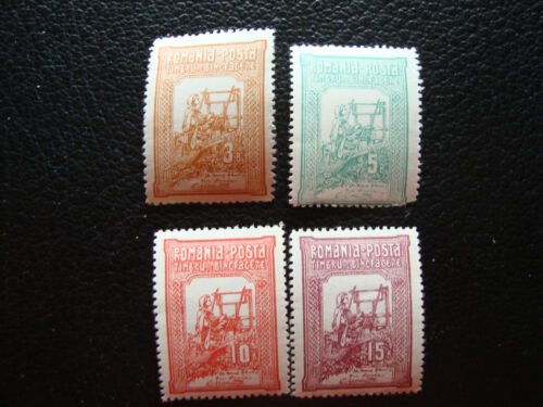 ROMANIA stamp yvert and tellier N° 164 a 167 n 165 dent short A19