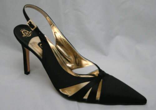 Black Pointed Slingbacks Bnwb £ 7 3186 Satin Rrp 5 Uk eu 315 5 40 Gina gqdwAnxSg