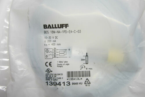 NEW BALLUFF BOS18MNA1PDE4C03 PHOTOELECTRIC SENSOR BOS18MNA1PDE4C03