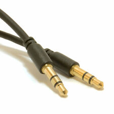 3m Slimline PRO 3.5mm Jack to Jack Stereo Audio Cable Lead GOLD [007531]