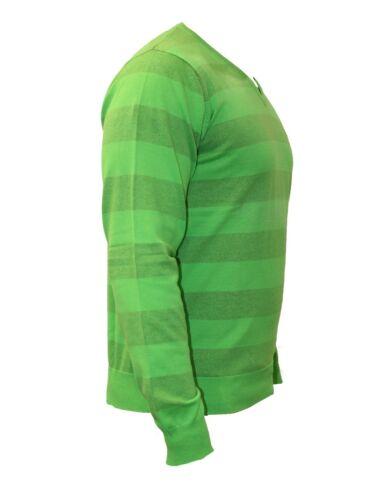 Da Uomo Billabong Cotone Lunga V A Moda Scollo Maglia Verde Casual Manica d5Rwaqdf