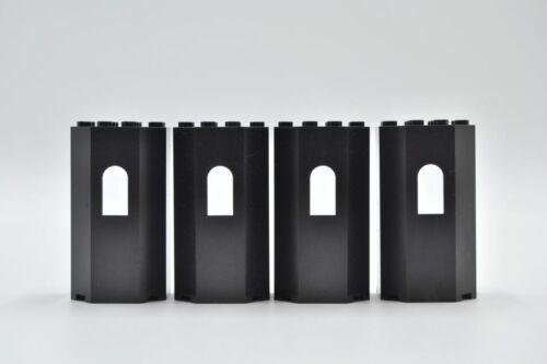 LEGO 4 x Erkerturm schwarz Black Panel 3x4x6 Turret Wall with Window 30246