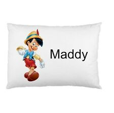 PINOCHIO Personalized childrens kids BED pillow case