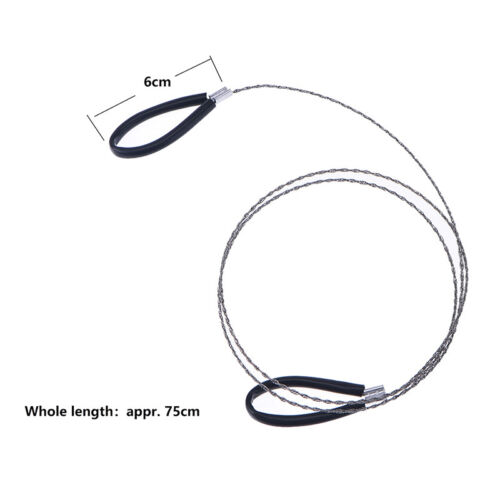 Lightweght Stainless Steel Wire Saw Outdoor Survival Tool Kit Survival Saw ZX