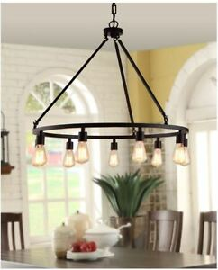 Edison Light Fixture Rustic Chandelier Farmhouse Candelabra Kitchen - Kitchen light fixtures ebay