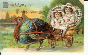 Thanksgiving day holiday greetings color postcard early 1900s rare image is loading thanksgiving day holiday greetings color postcard early 1900 m4hsunfo