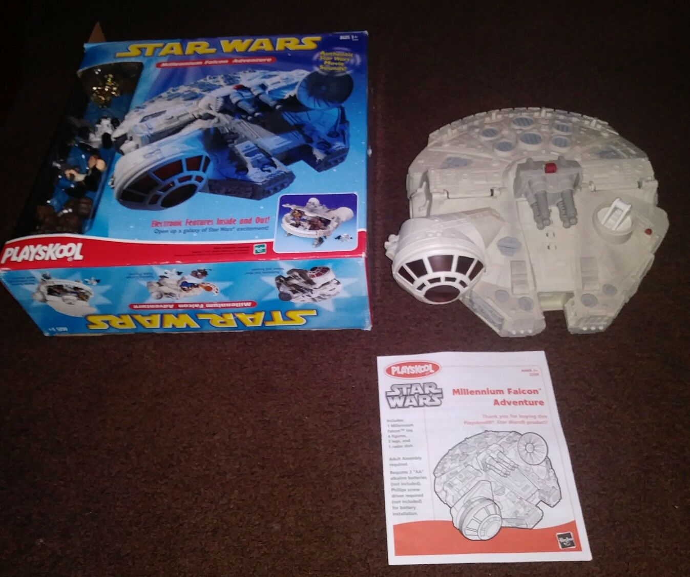 Star Wars Hasbro Playskool (2002) Millennium Falcon Adventure Playset W Figures