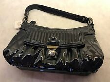NWT AUTHENTIC COACH 18671 NAVY PATENT LEATHER PURSE - Retail $228