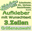 Indexbild 6 - 3-Zeilen-Aufkleber-Beschriftung-50-170cm-Werbung-Sticker-Werbebeschriftung-KfZ