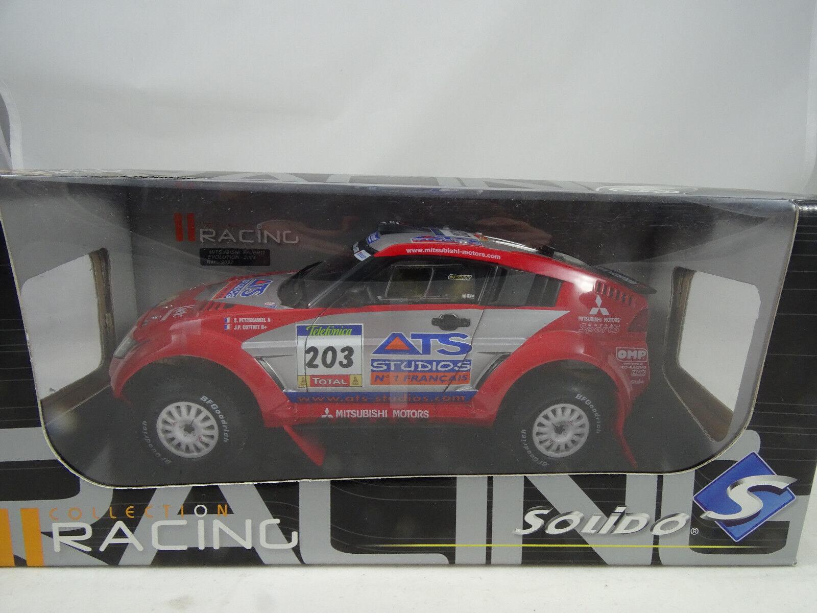 precio al por mayor 1 18 Solido  9052 Mitsubishi Pajero Pajero Pajero Evolution 2004  203 rojo Rareza§  apresurado a ver