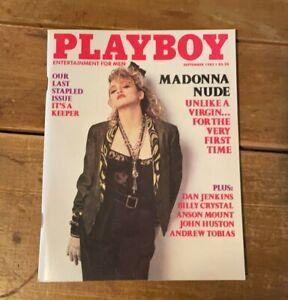 PLAYBOY Men Interest Magazine Sept 1985 Featuring Madonna