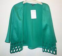 Samuel Dong Lasercut Green Dress Shirt Xs