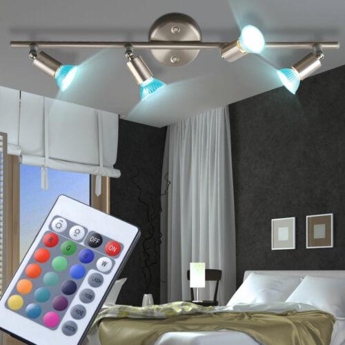 RGB LED Deckenstrahler schwenkbar Wohnzimmer FERNBEDIENUNG Lampe dimmbar EEK A