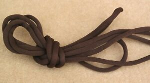 """LACES 11 x Pairs 150 cm 59"""" Long 5-6 mm Round Nylon Dark Brown Laces Boot Shoe"""