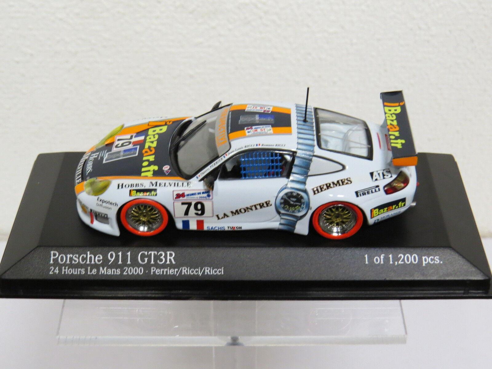 Porsche 911 GT3R 24h Le mans 2000 - Perrier Ricci Ricci Minichamps Nr. 430006979