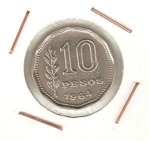 Argentina-10-Pesos-1964-XF
