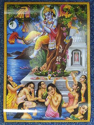 Lord Krishna Hindu God Poster 27cm x 39cm (JOTHI 527)