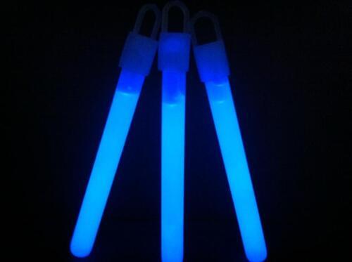"""200 4/"""" BLUE Glow Sticks Bulk Wholesale Pack w// FREE 200 Glow Bracelets"""