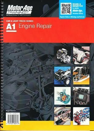 MotorAge A1 ASE Automotive Engine Repair Test Prep Home Study Manual Guide 80717