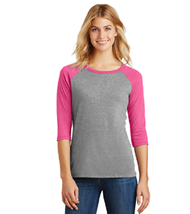 New-DistRict-Made-3-4-Sleeve-Tri-Blend-Baseball-Tee-Top-4X-MSRP-24-00