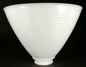 White-Milk-Glass-2-1-4-034-X-8-034-Floor-Table-Oil-Lamp-IES-Reflector-Waffle-Shade-391