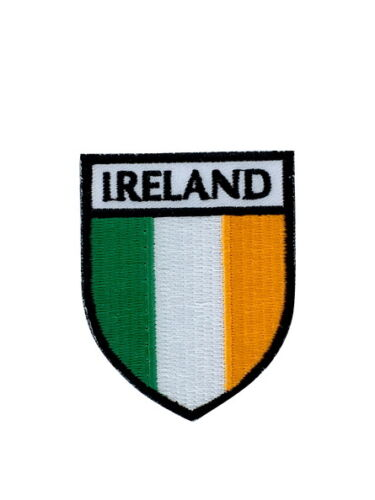 shield patch embroidered fusible flag coat of arms ireland backpack jacket