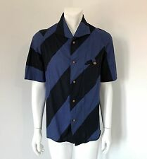 Rare Early Vivienne Westwood MAN Label Pirate Cut Stripe Shirt Size III Medium