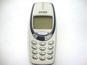 GRIS-CLARO-NOKIA-3330-TELEFONO-MoVIL-LIBRE-ADORABLE-RETRO-TELEFONO