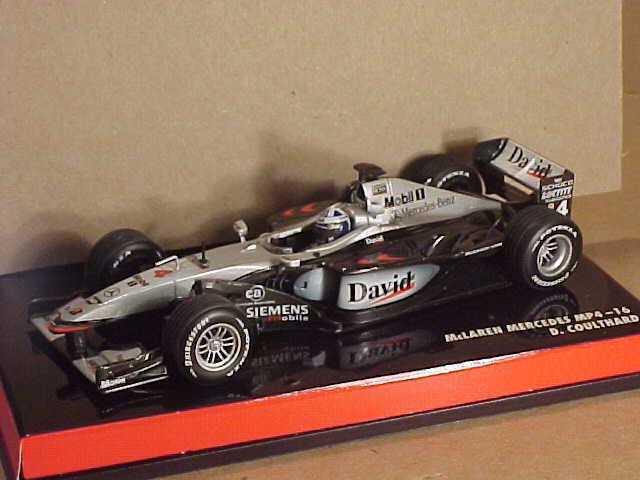 Minichamps  530 014304 1 43 McLaren Mercedes MP4-16, 2001 F1 temporada, D Coulthard