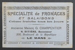 BUVARD-FROMAGE-SALAISON-DITIERE-CHARPENTIER-LE-MANS-blotter-Loscher