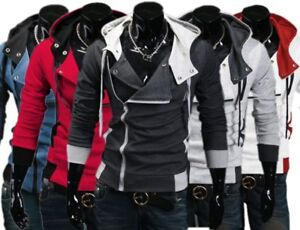 Fashion-Veste-Homme-Creed-sweat-a-capuche-Cool-Slim-pour-assassins-Cosplay-Costume-Lot