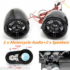 Motorcycle Bluetooth Handfree Audio System MP3 Player FM Radio Stereo Speakers