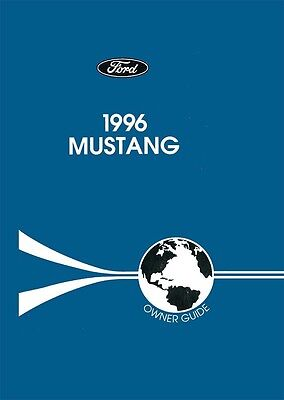 1996 ford mustang owners manual user guide reference operator book rh ebay com 1996 ford mustang cobra owners manual 2000 Ford Mustang Owners Manual
